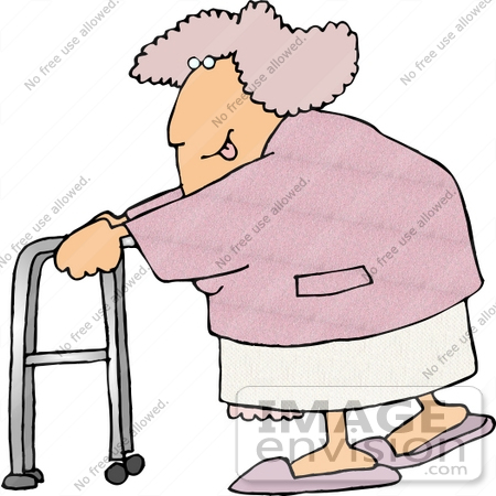 Senior Caucasian Woman Clipart.