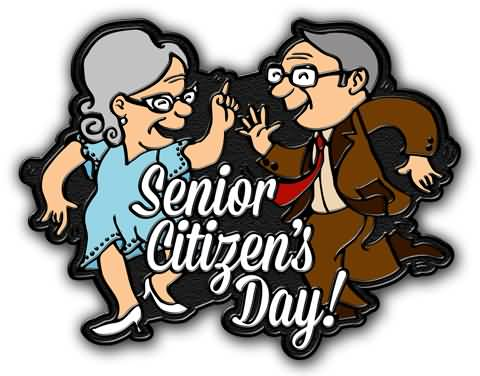 Senior Citizens Day Old Couple Dancing Clipart.