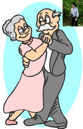 Elderly Dancing Cliparts.