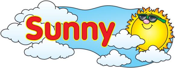 Sunny weather clip art.