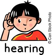 Vector Clipart of Sense of Hearing.