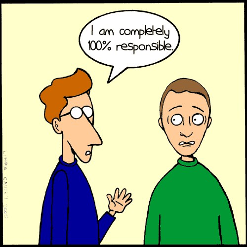 Being responsible clipart.