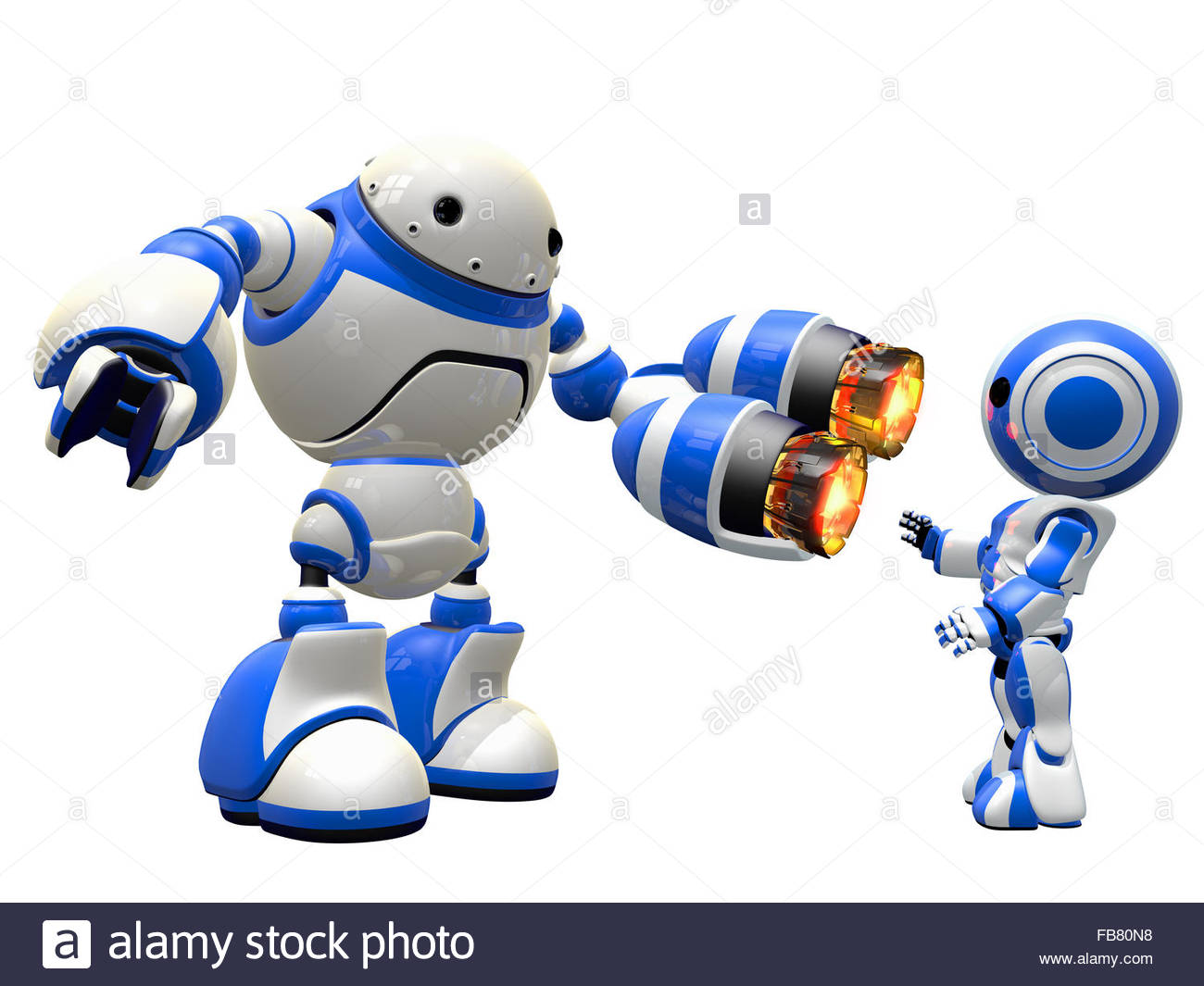 An Image Depicting Internet Security, In A Fictional Sense. Robot.
