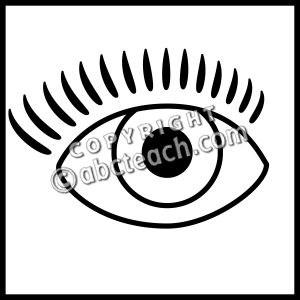 Clip Art: Senses 1 Sight B&W.