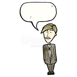 cartoon sensible businessman Clipart Image.