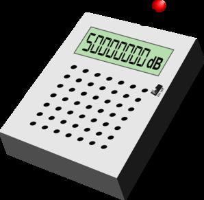 Electronic Decibel Sensor Clip Art at Clker.com.