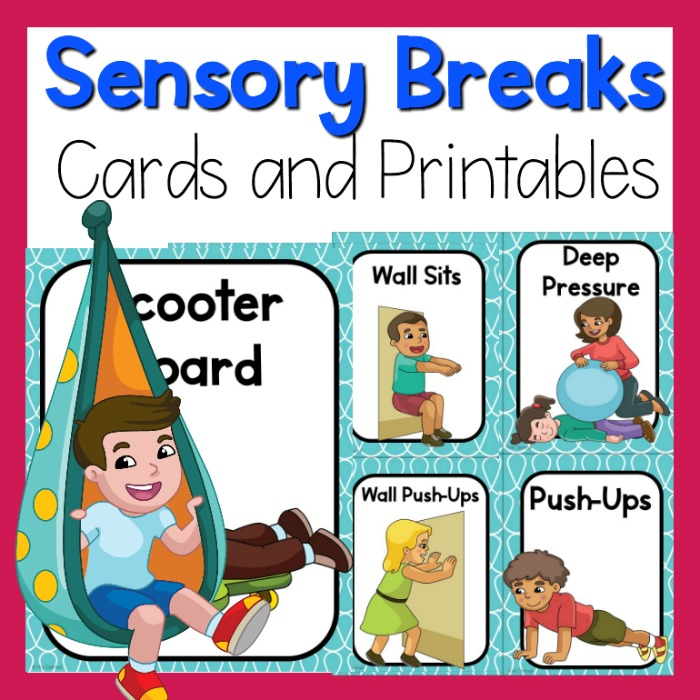 Sensory Breaks Cards and Printables.