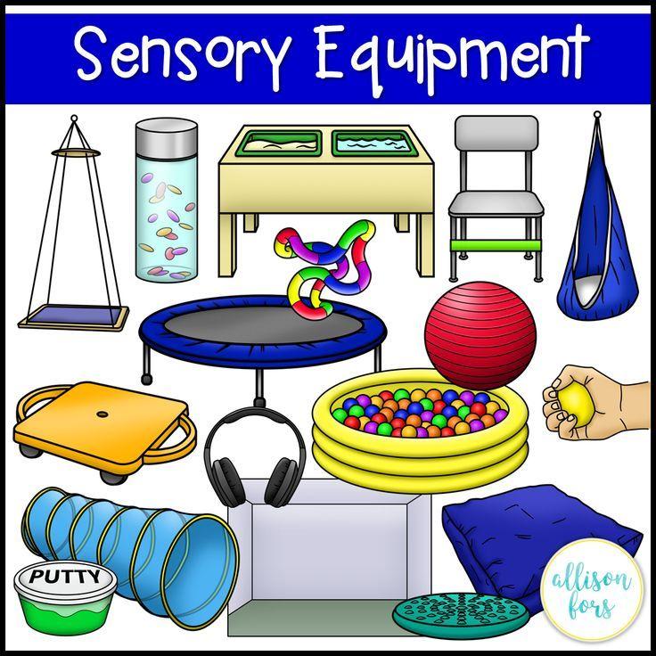 Sensory Room Equipment Clip Art.