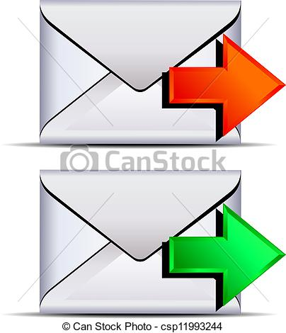 EPS Vector of Contact email send icon.