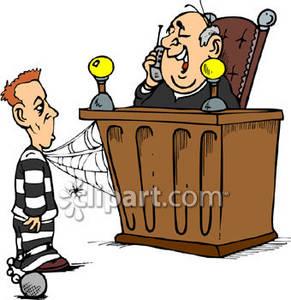 Sentencing Clipart.