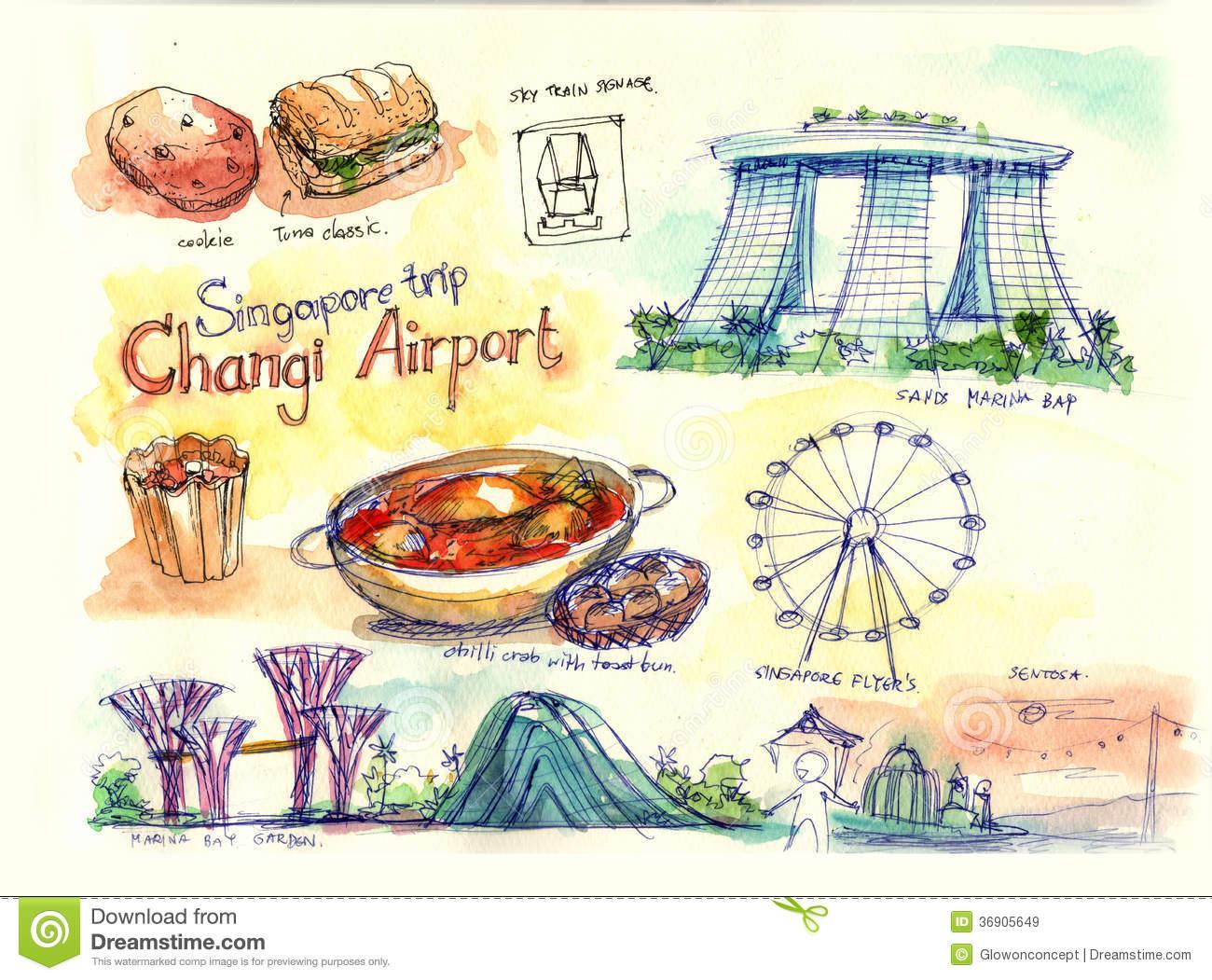 Singapore Illustration Royalty Free Stock Images.