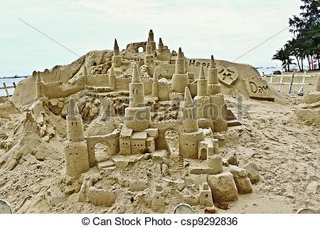 Stock Image of Amazing sandcastle on Sentosa.