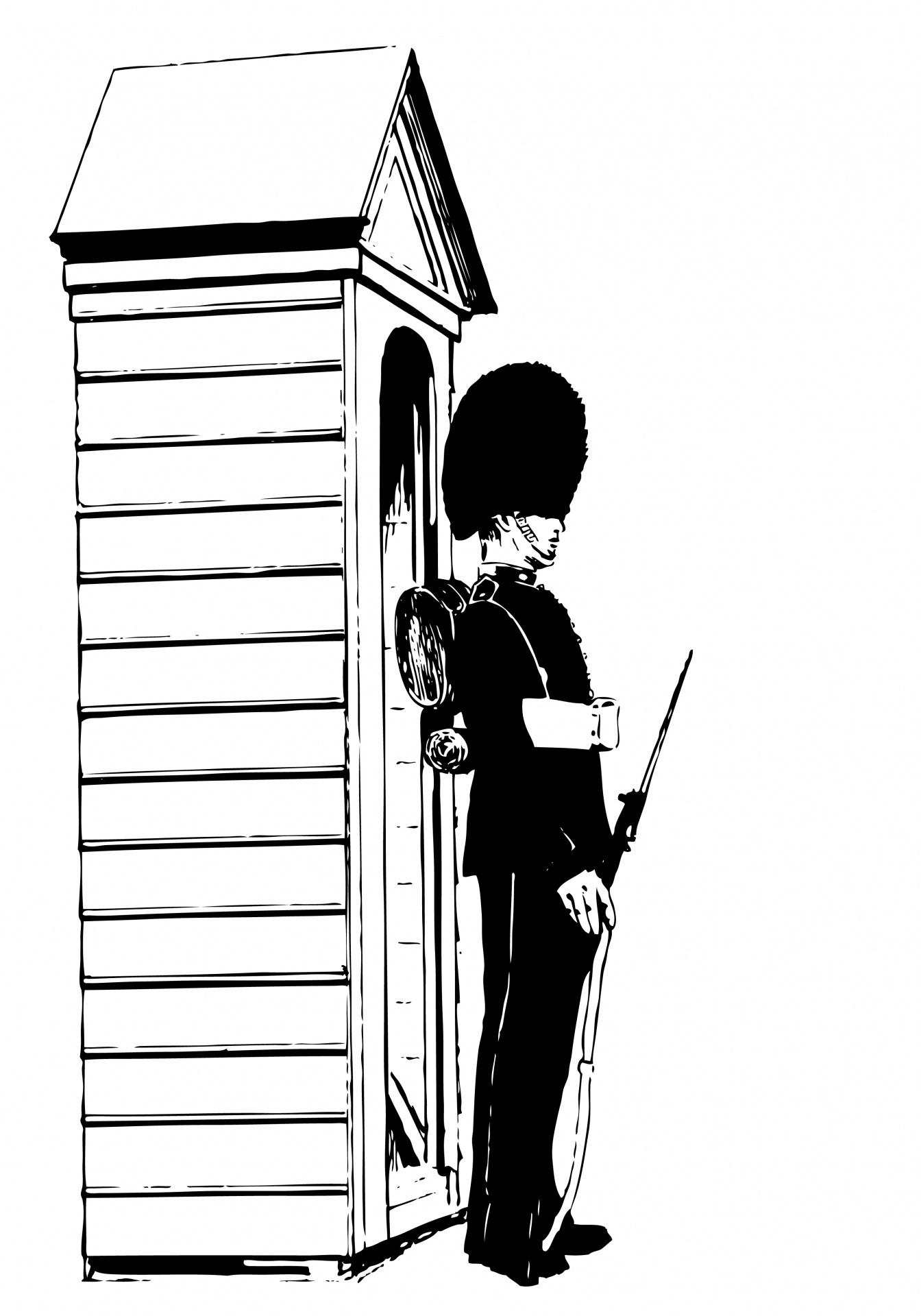 Sentry Guard Clipart Illustration Free Stock Photo.