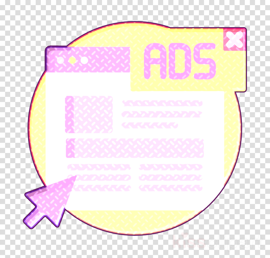 Marketing and Seo icon Ads icon Banner icon clipart.