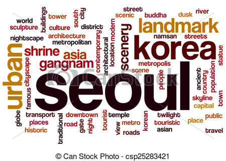 Clip Art of Seoul word cloud concept csp25283421.