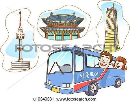 Clipart of seoul, free time, korea, free, feeling, vacation.