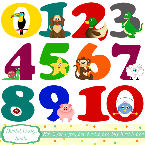 Clip Art Numbers 1 10 Separate Clipart.