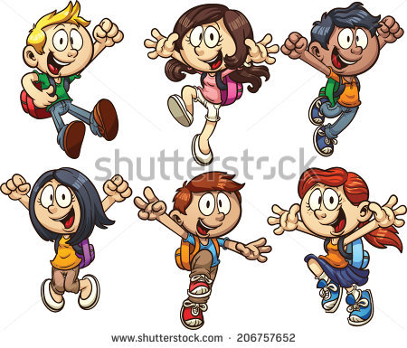 Cute Cartoon Kids Vector Clip Art Stock Vector 135164564.