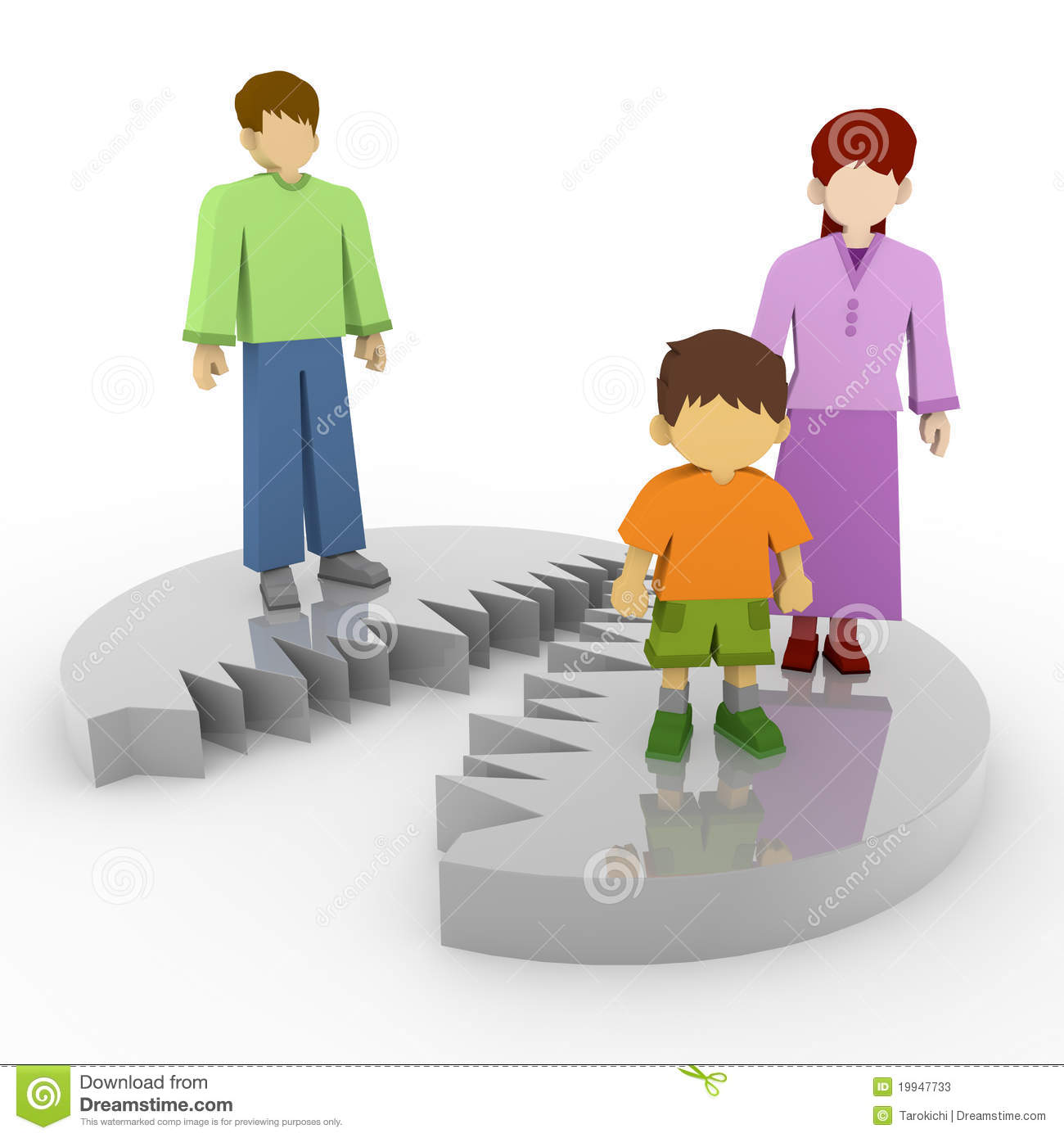 Family Separated Clipart.