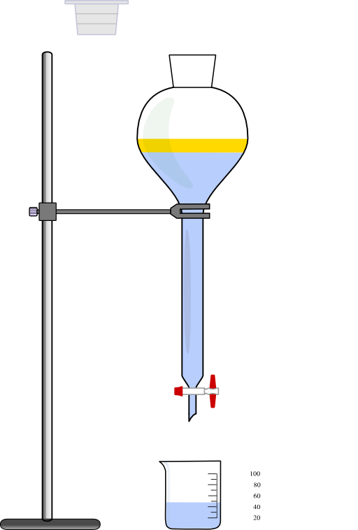 Separatory Funnel Clipart.