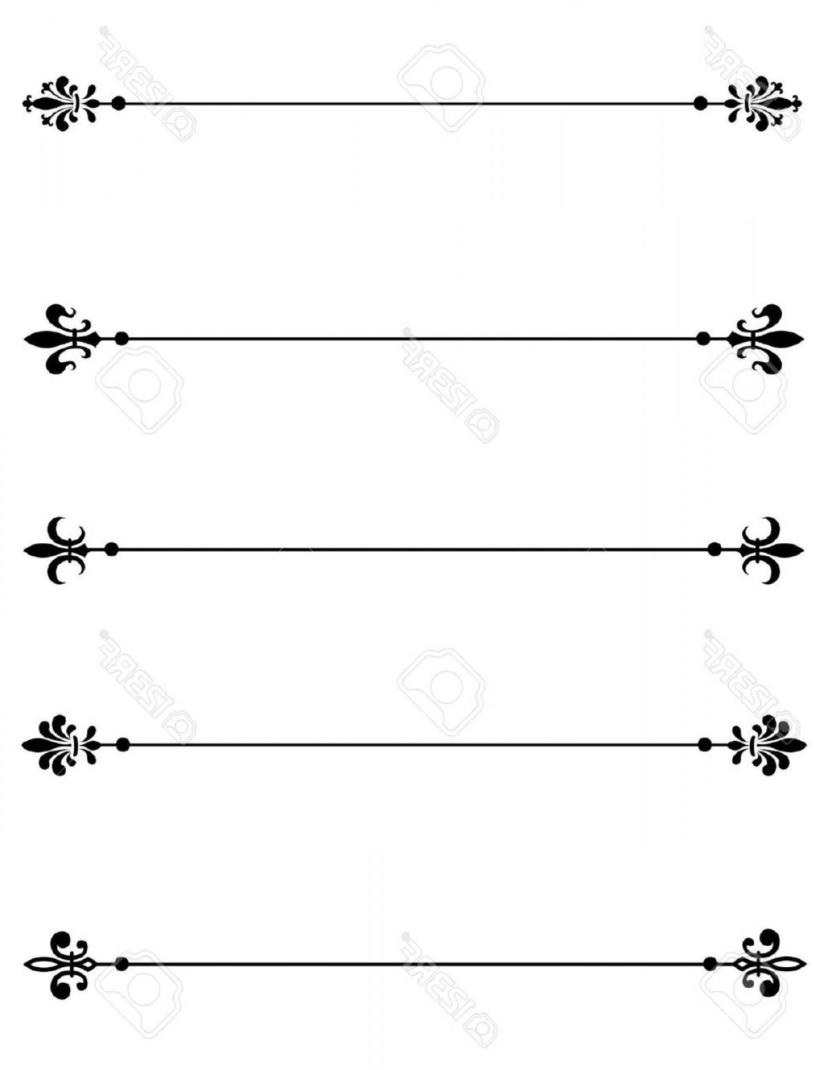 Decorative Line Separator.