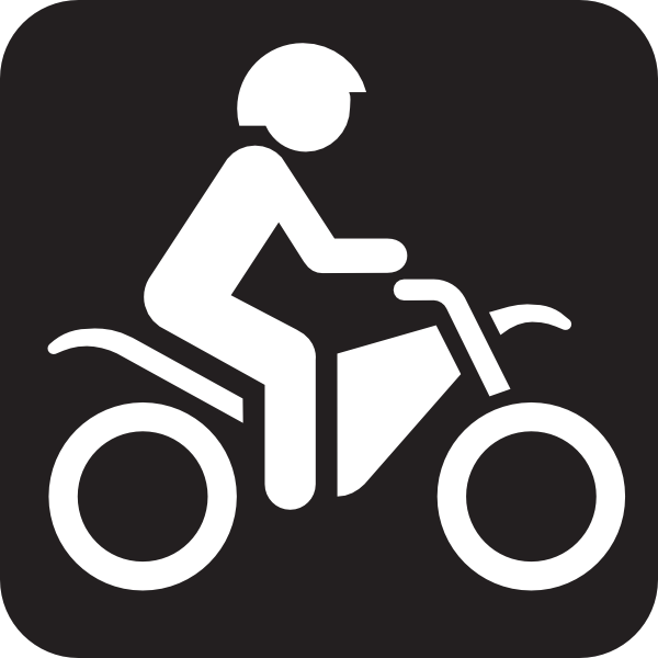 Motor Bike Trail Black Clip Art at Clker.com.
