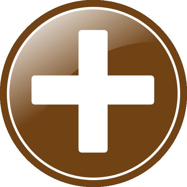 Add Button Sepia Clip art.