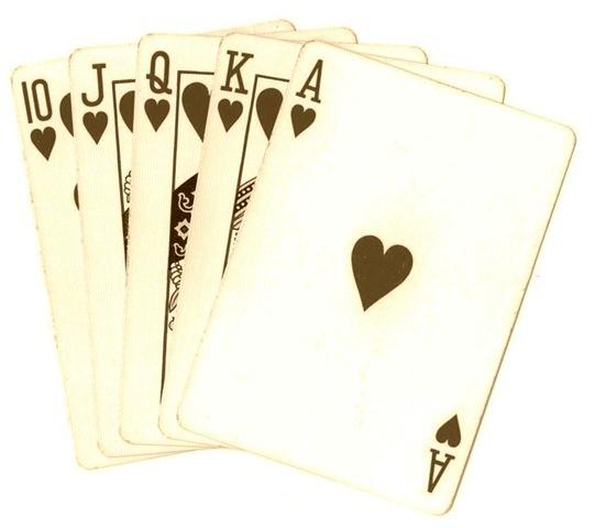Playing Cards Royal Flush Sepia Tone Poker Clip Art #wcaY0B.