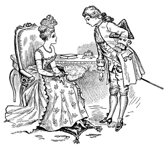 Good Manners ~ Free #Printable Victorian Couple Clip Art.