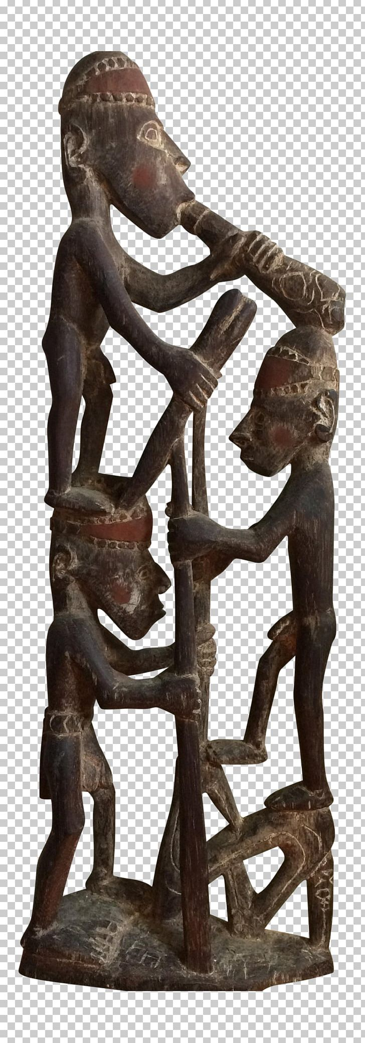 Sepik River Bronze Sculpture Kairiru Island Iatmul People.