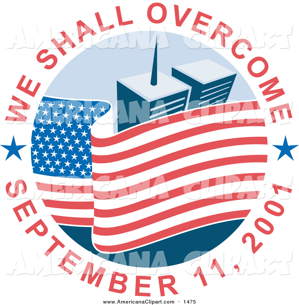 Americana Vector Clip Art of a We Shall Overcome September 11.