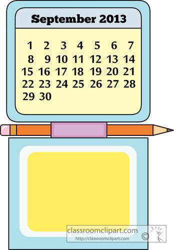 September 19 Calendar Clipart.
