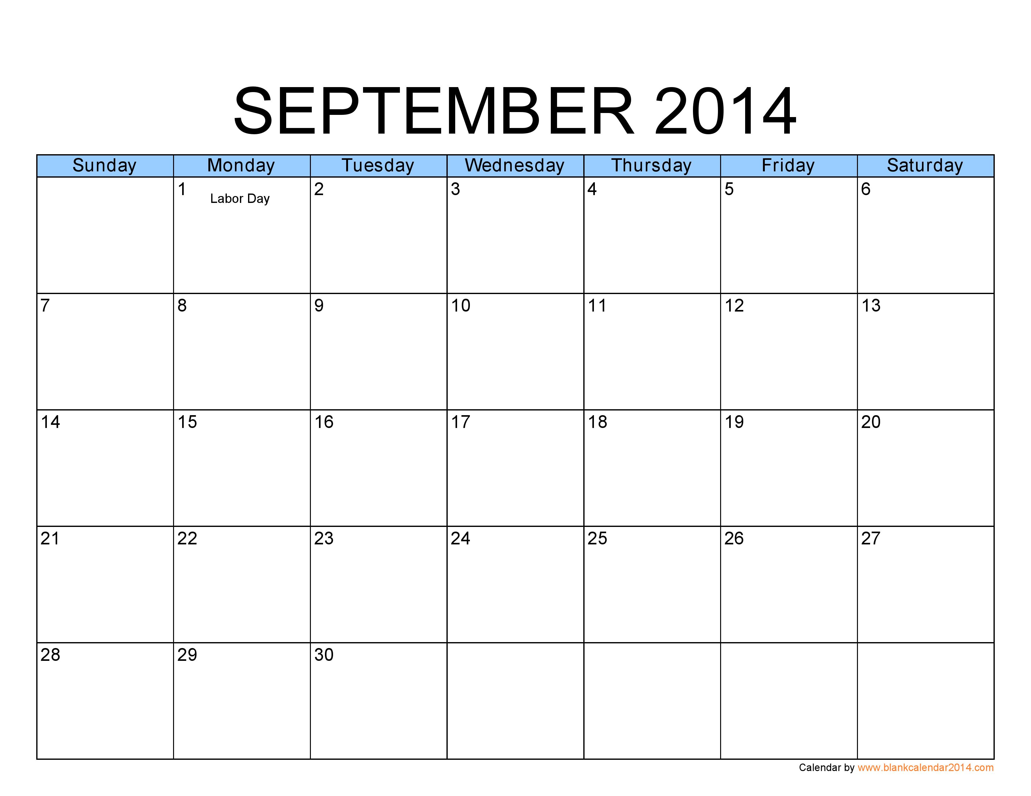 Thursday September 19 Calendar Clipart.