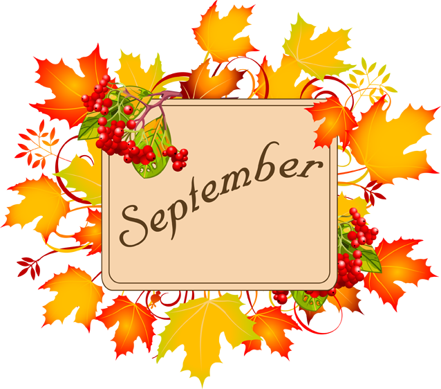 September Monat Clipart.