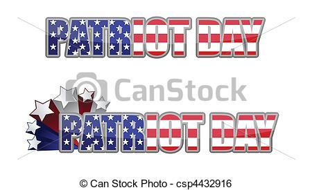 Clip Art Vector of Patriot Day / september 11.