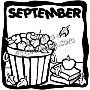 September clipart black and white 4 » Clipart Station.
