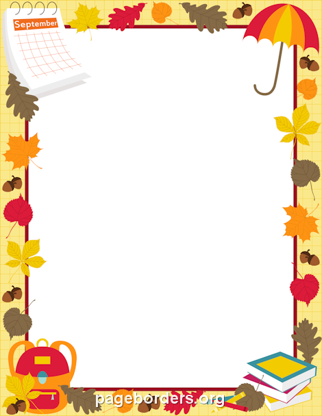 Printable September border. Use the border in Microsoft Word or.