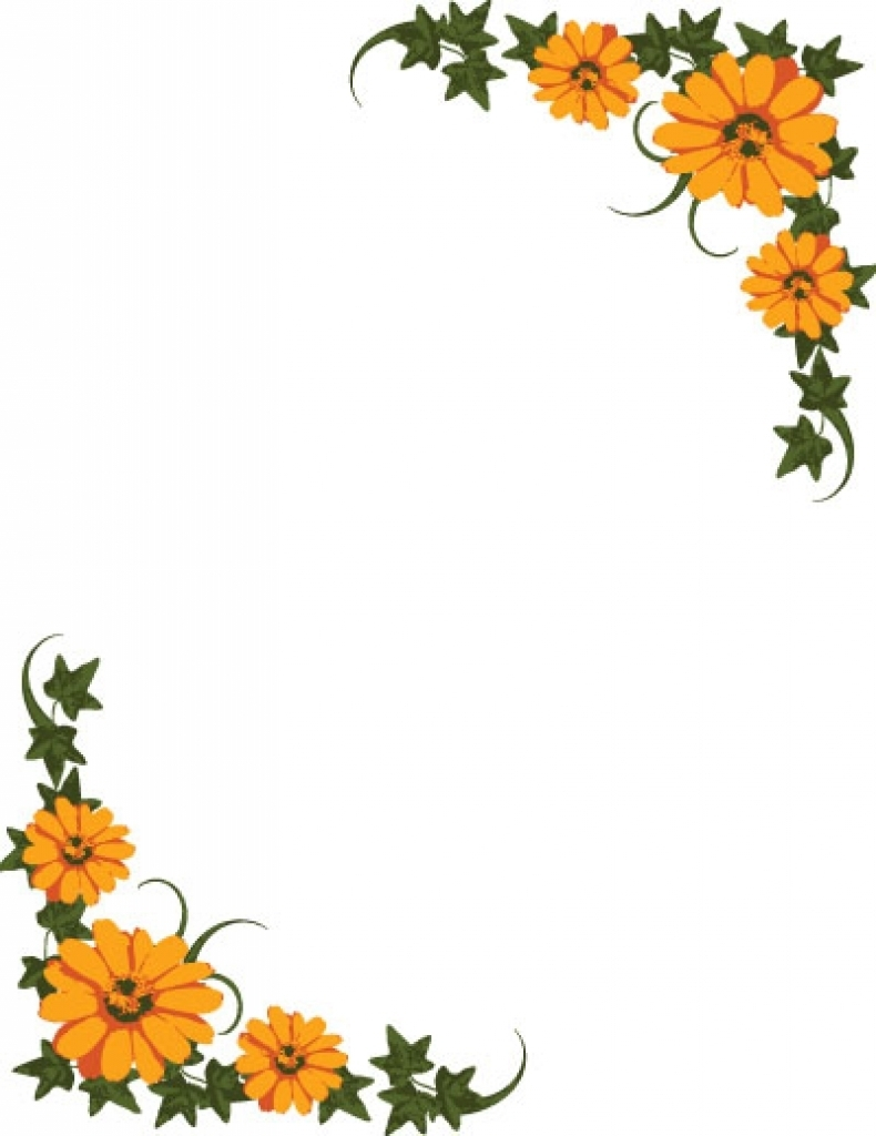 September Borders Clipart.