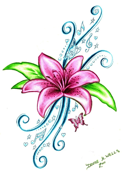 Tattoo Flower Pictures.
