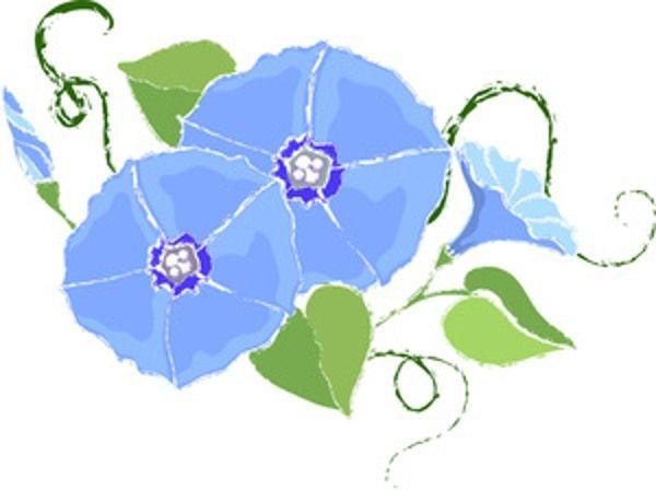 light blue flower clip art.