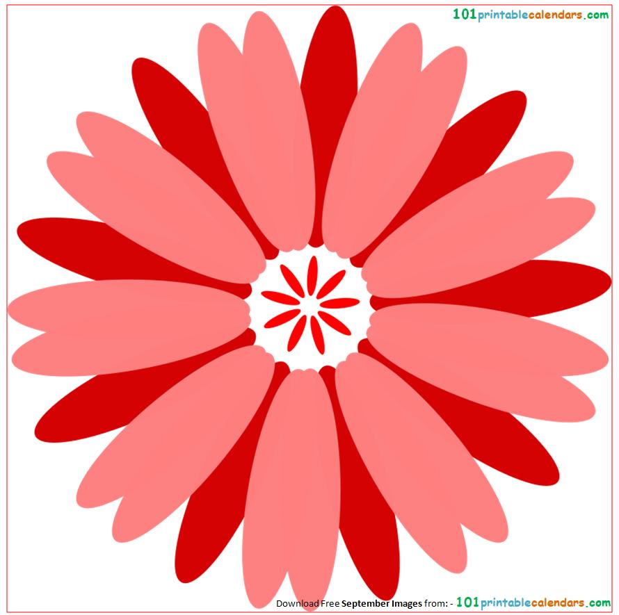 September Flowers Clipart.