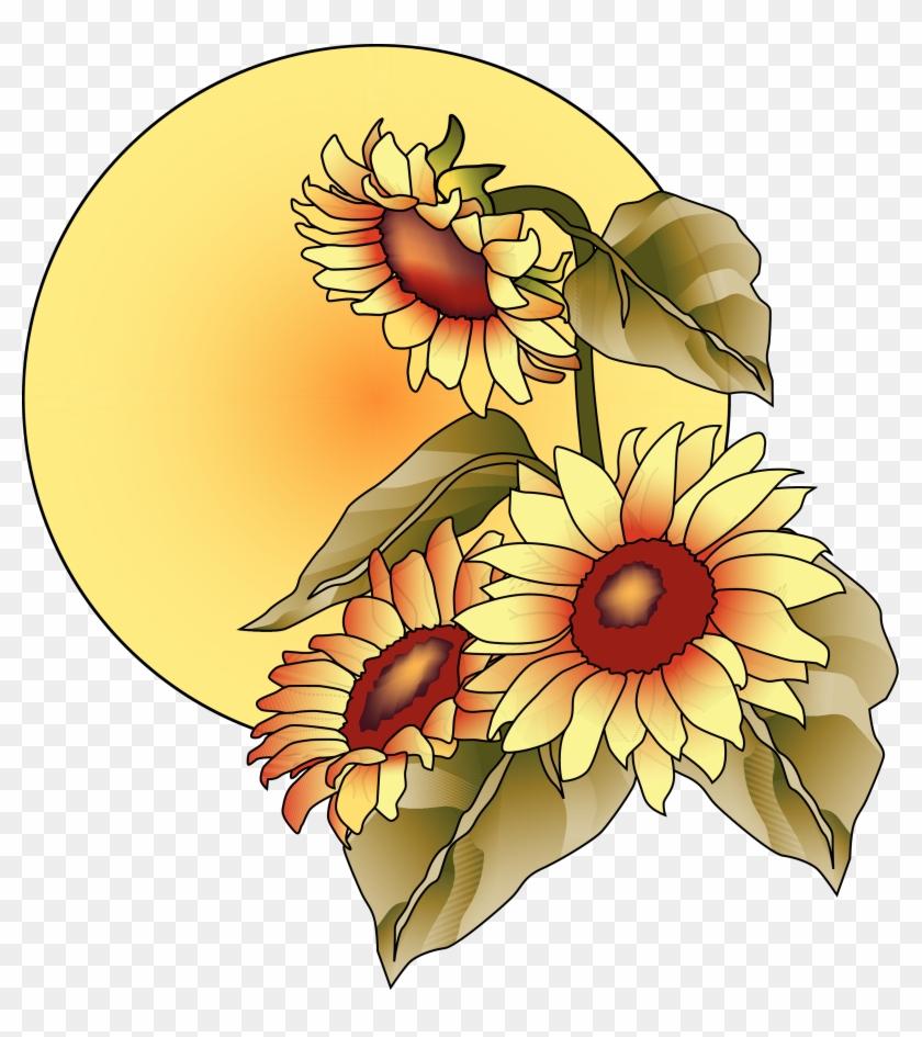 Sunflowers Clipart September.