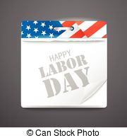 September labor day calendar Vector Clipart Royalty Free. 16.