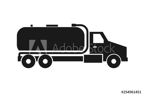 Septic tank truck icon. Clipart image isolated on white.