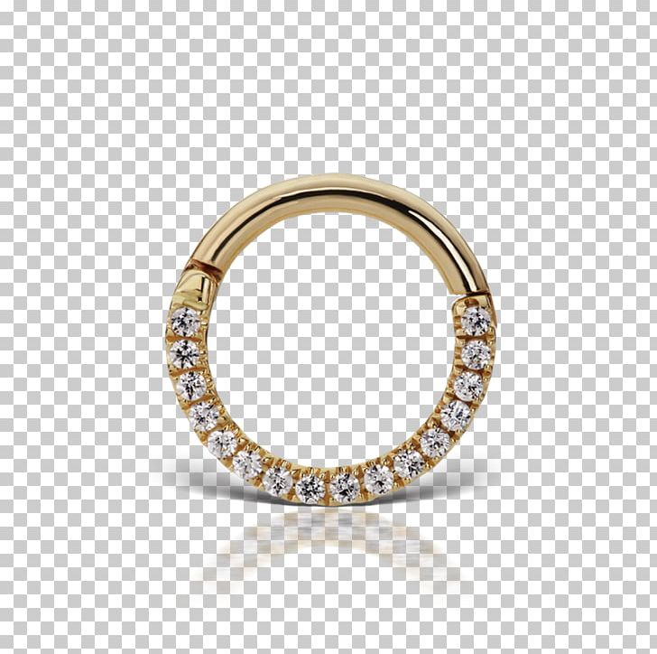 Ring Cubic Zirconia Body Jewellery Nese Septum.