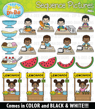 Food Sequence Action Pictures Clipart {Zip.