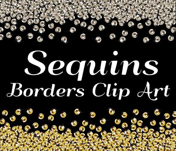 Sequin Clip Art, Sequin Border clip art, Border clipart clip art.