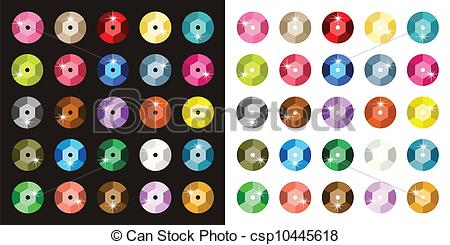 Vector Clip Art of Colored Paillette.