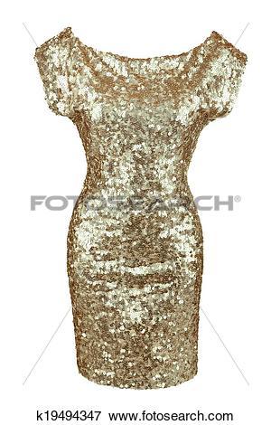 Picture of Golden sequin dress k19494347.
