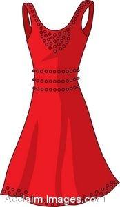 Clip Art of a Summer Dress.